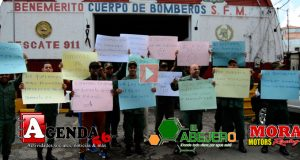 Protesta-Bomberos