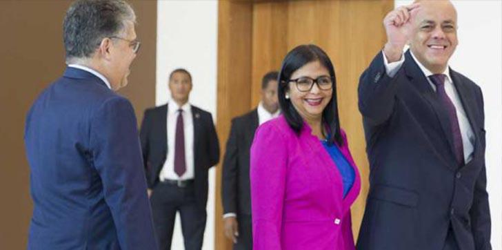 Gobierno-y-oposición-de-Venezuela-discuten-condiciones-para-presidenciales