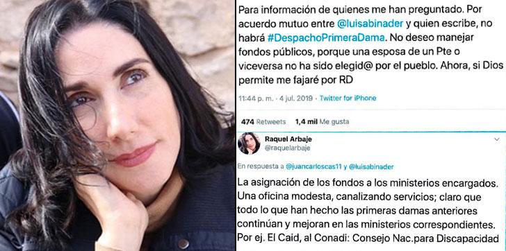 """Raquel Arbaje: """"No deseo manejar fondos públicos porque una esposa ..."""
